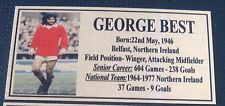 Soccer George Best Picture Gold Sublimated Plaque Postage
