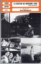 LE DESTIN DE MADAME YUKI - Mizoguchi(Fiche Cinéma)1950 - Portrait of Madame Yuki