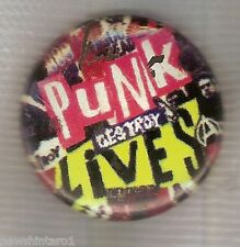 #D77.  PUNK MUSIC LIVES  TIN BADGE