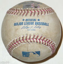 NY YANKEES vs DETROIT TIGERS 2011 ALDS GAME 2 STADIUM USED MLB BASEBALL 10/2/11