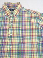 RALPH LAUREN SHIRT Men's Size M/Medium Button Down Short Sleeve India Madras