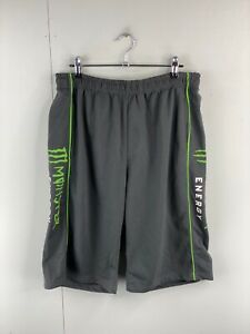 Monster Men's Casual Athletic Elastic Waist Shorts Size XL Grey