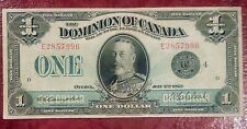 DOMINION OF CANADA $1 1923 BLACK SEAL GROUP 4 KING GEORGE V ~NICE GRADE NOTE