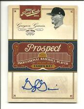2011 Playoff Prime Cuts Prospect Grayson Garvin auto #GG Rays #d 04/48 Autograph