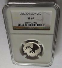 2012 CANADA NGC SP69 25C! COIN ROTATED! BROWN LABEL!!!