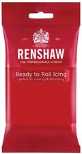 Renshaw Fondant Regalice Icing Ready to Roll out Sugarpaste 250g Cake Decoration Poppy Red