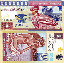 PITCAIRN ISLANDS 5 Dollars Fun-Fantasy Note Private Issue Currency 2018 Ship