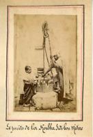 Algérie, Tlemcen, Puits de la Kouba de Sidi-Bou-Médine Vintage albumen print