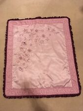 Cocalo Couture Purple/Burgundy/pink Embroidered Flowers Crib Size Baby Quilt