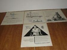 UNIVERSAL OIL PRODUCTS CO 4  ORIGINAL FORTUNE  MAGAZINE PRINT ADS 1958