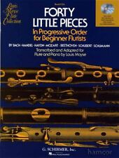 Forty Little Pieces Flute & Piano Music Book with Audio for Beginner Flutists