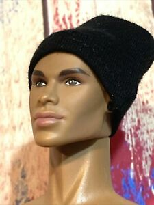 "Ken /Integrity /Barbie / 12"" action figures-1/6 scale Black Beanie Hat - NEW!"