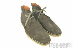 VINCE Gray Suede Leather Mens Classic Chukka Boots  - 12 M