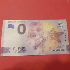 NOUVEAUTE  ZERO EURO 2021  MARILYN MONROE  tirage 3000