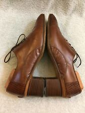 BRASS BOOT SNAKE SKIN Hand Made Lace Up Brown Mens Shoes  SIZE 11 55243 208 VTG