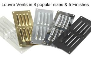 LOUVRE Ventilators Hooded Louver Vents Door Boat Wall Vent 8 Sizes & 5 Finishes