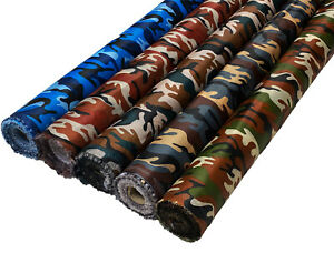 Waterproof Camo Ripstop Fabric Material Rip Stop 4oz Army Camouflage Nylon Look