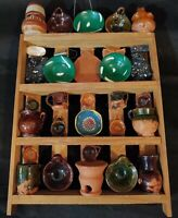 Lrg Lot of Vtg Unique Miniature Hand Made Clay Pottery Wall Display Sampler Doll