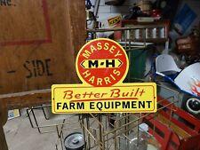 Massey Harris Farm Equipment Sign seed feed barn Tractor gas oil