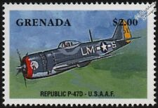 WWII USAAF Republic P-47 / P-47D THUNDERBOLT Fighter Aircraft Stamp