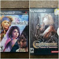 Lot of 2 PS2 Black Label Games: Castlevania &  Final Fantasy X-2 / Complete