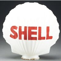 Iconic Shell Gas Pump Globe Vintage Glass Lens Service Station Garage Sign