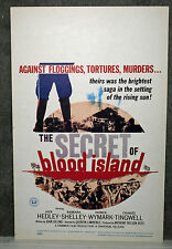 THE SECRET OF BLOOD ISLAND original 1965 ROLLED movie poster BARBARA SHELLEY