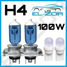 H4 Xenon White 100w Dipped Beam 12v Headlight Headlamp Bulbs Light 501 Sidelight