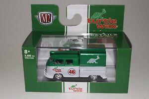 M2 MACHINES TURTLE WAX 1959 VOLKSWAGEN VW DOUBLE CAB TRUCK, 1:64, NIB