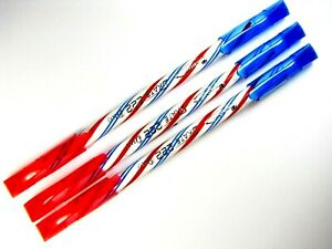 3 x QUANTUM SKATE 222 Duo Blue & Red Ink Ballpoint pen 2 in 1 size 0.5mm in pack