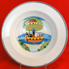 "NOAH'S ARK NAIF DESIGN RIM SOUP 8.75"" diameter Villeroy & Boch NEW NEVER USED"