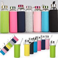Sport Water Bottle Cover Neoprene Insulated Sleeve Bag Case Pouch for 420-550mL