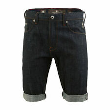 Crosshatch Cotton Regular Shorts Denim for Men