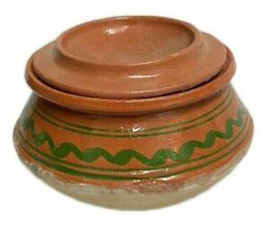 Clay Cooking Pot | Size Medium | 4L Desi Handi Pot With Lid | Open Fire Pot...