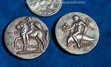 Calabria, Tarentum Ar Nomos Warrior, with shield Ancient Greek Repro Coin
