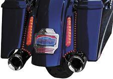 Kuryakyn 3145 Curved L.E.D. License Frame for CVO, Tri-Lighted Harley Davidson