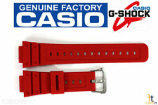 CASIO G-Shock DW-5600P-4 16mm Original Red Rubber Watch BAND Strap