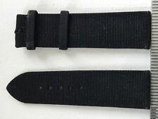 CARTIER Ottoman Black Silk Fabric Watch Band Strap New  20 x 18 mm Short 80 x 75