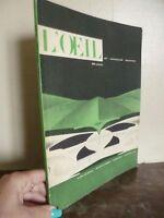 OCCHIO Rivista Arte/Architettura/Decorazione Illustre Luglio-Agosto 1959 N 55-56