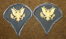 PAIR U.S. ARMY SPECIALIST 4TH CLASS SPEC 4 RANK VIETNAM ERA PATCHES PRE 1968