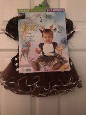 Baby Deer Infant Girl Size 6-12 Months New Halloween Costume