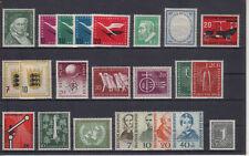 Bund Jahrgang 1955 - Auswahl aus Michel Nr. 204 - 226 , ** , postfrisch