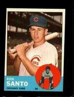 1963 TOPPS #252 RON SANTO NMMT CUBS HOF *SBA4179