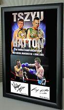 """Ricky Hatton  v Kostya Tszyu Boxing  Framed Canvas Print Signed """"Great Gift"""""""