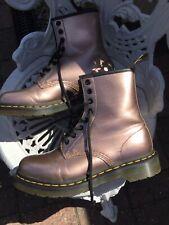 Doc Martens Vegan Limited Edition 1460 8hole Rose Gold Boots Uk5/38 VGC