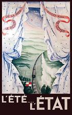 Affiche chemin de fer Etat - L'été l'état