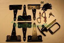 "Shed Door Hardware Kit 5"" Colonial Hinges, T-Handles, Barrel Bolts, Barn Door"