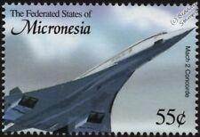 Concorde supersonique AVION AIRCRAFT STAMP (2003 Micronésie)