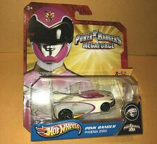POWER RANGERS megaforce HOT WHEELS car PINK RANGER PHOENIX ZORD diecast toy saba