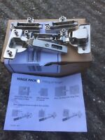 KITCHEN CABINET STANDARD DOOR HINGES HIGH QUALITY CLIP ON SALICE PACK Q 1x PAIR